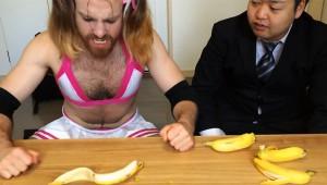 バナナを逆からむくとキレイにむける!見た目も美味しそうになるよ!