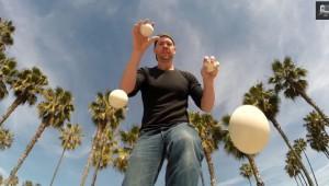 ジャグリングをプレイヤー視点で映した動画が凄い!