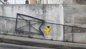 どこかで見たことあるようなキャラまで! 街に現れたストリートアートが背景とマッチしていて面白可愛い!!