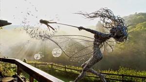 なんて美しい! ワイヤーで作られた妖精がダイナミックすぎて神々しい!!