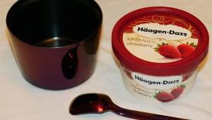 アイスが溶けない近未来カップホルダーHappy Ice Cream! 2時間放置してもまだ冷たい! 溶けてない(笑)