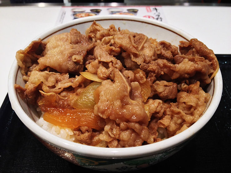 吉野家の牛丼に紅生姜を山盛りにして食べてみたwwwwwww