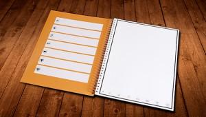 【マジかよ】電子レンジに入れると真っ白に戻るノートがすごい! 手書きのデータをスマホに転送も可能
