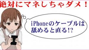 【マジかよ】絶対にマネしないで! iPhoneのケーブルが反応しないときは舐めると復活するぞ!