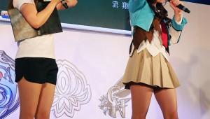 【ニコニコ超会議】ミニスカすぎるアイドル中村静香がミニスカすぎて男子が悶絶(笑)! ザクセスヘブン