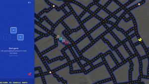 【衝撃】『Googleマップ』にアクセスすると地図を使ってパックマンが遊べるぞ(笑)!