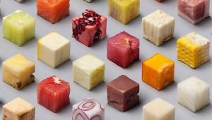 世界が絶賛! 食材を全て立方体に切った食品アートが凄い