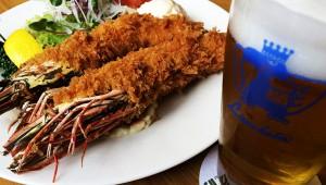100年以上の歴史ある洋食店『ランチョン』のエビフライ / 東京芸術大学の学生に愛される味