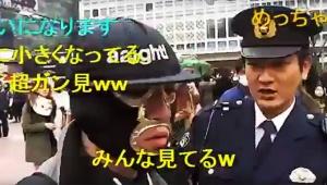 【炎上】渋谷で生放送中にタレントが警察に連行! 交番から逃走を謀る「盗撮しているのか」「捜索願が出ているのか」