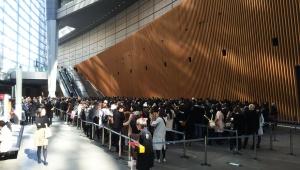 【衝撃】サロン・デュ・ショコラ日本がバレンタインデー直前で女性たちに大盛況! 平日でも入場3時間待ち