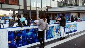 【急げ】東京スカイツリーでアイススケートできるよ! ドラえもんと「青の洞窟」がアイススケートパークと青コラボ