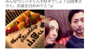 【衝撃】フィフィが山田孝之の誕生日をフライングで祝福! なんと17日も前にケーキをプレゼント(笑)