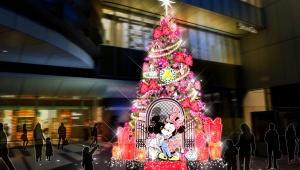 ミニーマウスが登場 !?「渋谷ヒカリエ」のクリスマスプロモーション