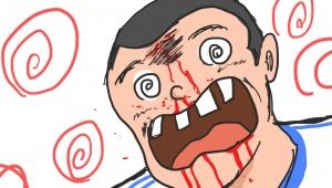 【衝撃の結末】友人が石崎君の顔面ブロックをやりたいと言うので思いっきりボールをブチ込んでやった結果