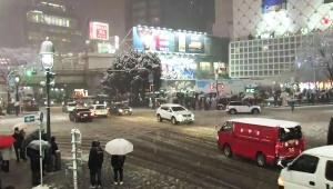 【必見】大雪の東京! 渋谷と新宿の様子がYouTubeリアルタイム生放送で観られるよ