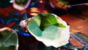 【衝撃グルメ】ハイブリッドグルメの「青い牡蠣」が激しく未来的すぎる件 / アメリカンエキスプレスが期間限定で提供
