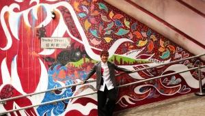 【感動】香港で元SMAP香取慎吾がストリートアートを描いて公開 / 運気上昇の龍を描いて新たなパワースポットに