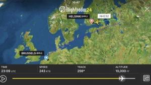 【緊急事態】ブリュッセル→東京ANA232が緊急事態宣言 / ヘルシンキに緊急着陸「消防車が着陸を待機」