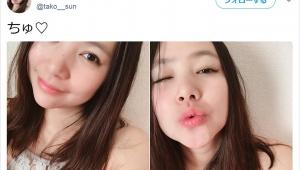 【衝撃】美人すぎるラーメン二郎マニア出現 / ファンサービスでキス写真も披露「マシマシラーメンを完食する勢い」