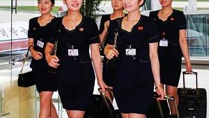 【話題】北朝鮮のCA制服がミニスカすぎて男性に好評 / 2019年も継続してミニスカ制服使用