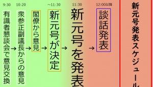 新元号の発表方法とスケジュールが判明 / どのように発表されるのか詳細公開