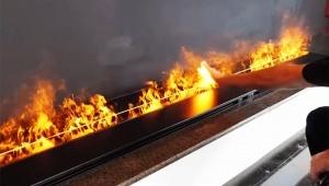 【話題】触っても熱くない炎がスゴイ / 疑似炎の Water Vapor Fireplace が革命的!