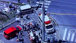 【緊急事態】滋賀県大津市で園児十数人の列に自動車が突っ込む事故 / 意識不明で13人が救急搬送