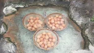 奥飛騨温泉郷・平湯温泉の名物「はんたい卵」が超絶絶品すぎてやばい!日本一美味しい温泉卵。