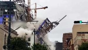 【話題】建設中のビルが突如として倒壊する動画 / 負傷者や命を失う人が出るほどの大惨事に