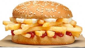 バーガーキングのフライドポテトバーガーが大人気 / 140円だが中身はポテトとパンだけ!