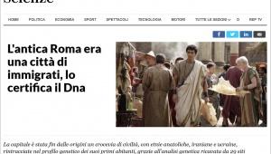 【話題】イタリア誌「古代ローマは移民都市だった」との記事でテルマエ・口マエ阿部寛の画像使用 / 日本人とわからず勘違いか