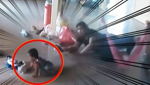 【衝撃動画】巨大ムカデに襲われる赤ちゃん / 危機一髪で助かる瞬間のYouTube動画