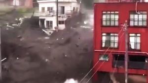 【緊急事態発生】熱海で脅威的な土石流発生か / 街が破壊されていく動画が公開される